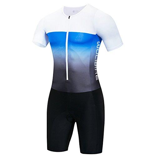logas Combinaison Triathlon Nage Mahches Courtes Vetement Trifonction pour Homme