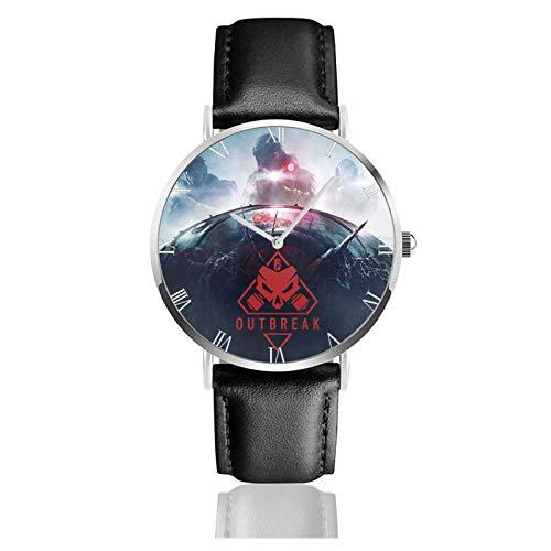 Relojes Anolog Negocio Cuarzo Cuero de PU Amable Relojes de Pulsera Wrist Watches Arco Iris