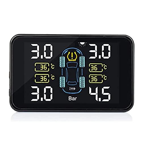 FYRMMD Sistema de Control de presión de neumáticos de automóviles Pantalla LCD Digital de energía Solar Sistemas de Alarma de Seguridad para automóviles Tyr (Monitor de neumáticos)