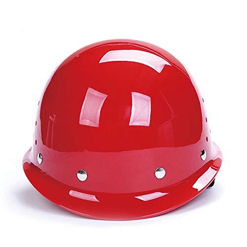 WYNZYSLBD Visierhelm, Kopfschutz Auf Der Baustelle - Arbeitsschutzhelm, Mehrfarbig Optional (Color : Red)