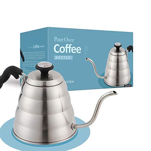 Pour Over Kettle - Hervidor de té y café para inducción y todas las estufas - 40 onzas / 1200 ml