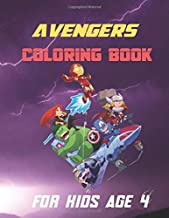 𝐚𝐯𝐞𝐧𝐠𝐞𝐫𝐬 𝐜𝐨𝐥𝐨𝐫𝐢𝐧𝐠 𝐛𝐨𝐨𝐤 𝐟𝐨𝐫 𝐤𝐢𝐝𝐬 𝐚𝐠𝐞 𝟒: gift for your child, using pencils and drawings