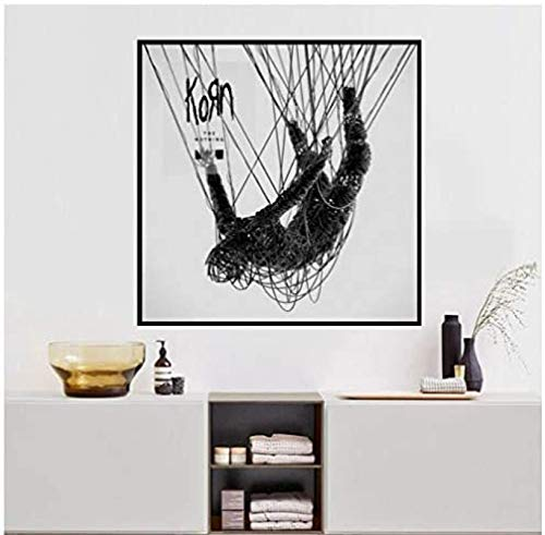 MichPong Korn - The Nothing Album Music Cover Poster Wall Art Wall Picture Canvas Printing Home Decor Canvas Print-24X24 Inch No Frame
