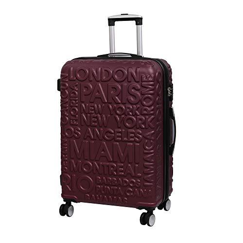 it luggage Destinations Ii - 8 Wheel Hard Shell Single Expander Suitcase With Tsa Lock Valigia, 70 cm, 107 liters, Rosso (Dark Wine)