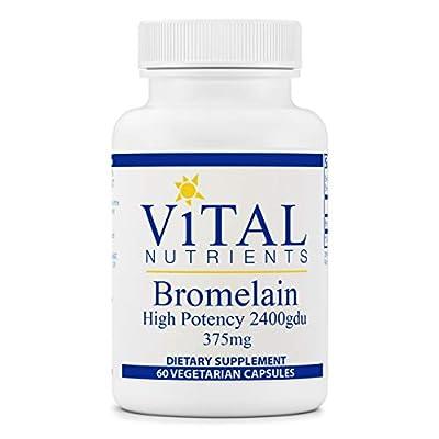 Vital Nutrients - Bromelain - Enhances Digestion and Maintains Healthy Tissue - 60 Capsules per Bottle - 2400 GDU (375 mg)