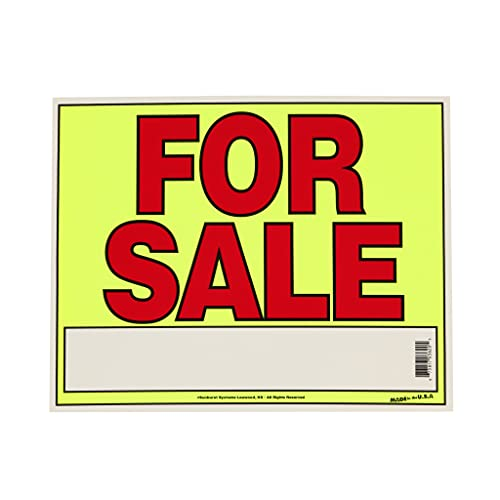 Sunburst Systems For Sale Sign for Cars, Trucks, Garage Sales, Business Sales 11H x 14W, Red-Yellow-Black
