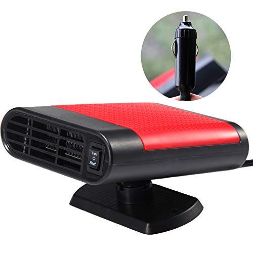WANYIG Chauffage Voiture 12V 150W Réchauffeur de Voiture Car Heater avec Ventilateur Portable Dégivreurs Pare-Brise (Rouge, sans Purification d'air)