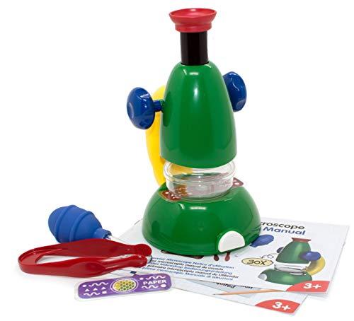 Edu Toys Mi Primer Microscopio–30x Microscopio para niños pequeños Experimentos con bebildertem Manual en alemán. Niños Microscopio