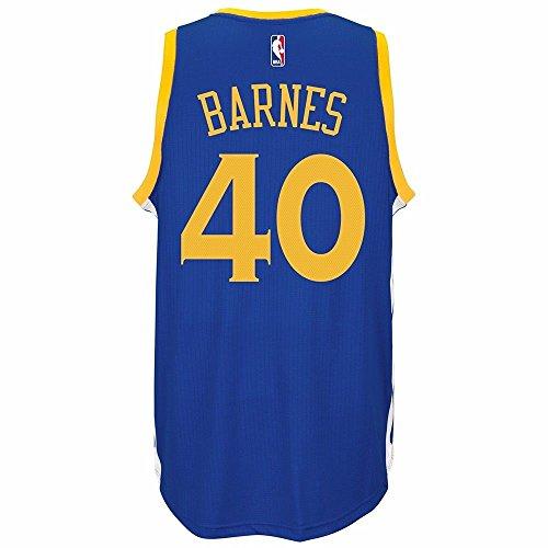adidas Harrison Barnes Golden State Warriors Road Swingman Jersey (Blue) L