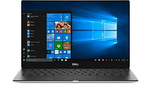 2018 Dell XPS 9370 Laptop, 13.3' UHD InfinityEdge Touch Display, 8th Gen Intel Core i5-8250U, 8GB RAM, 128 GB SSD, Fingerprint Reader, Windows 10, Silver