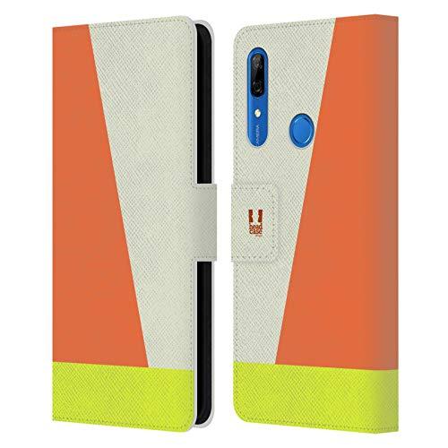 Head Hülle Designs Elfenbein Farbblock Pfeile Leder Brieftaschen Handyhülle Hülle Huelle kompatibel mit Huawei P Smart Z / Y9 Prime