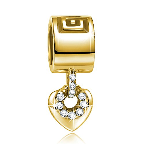 NINAQUEEN Charm encaja con Pandora Oro Regalos Mujer Originales Plata de ley 925 Abalorios para Niñas Madre Hija Esposa de Cumpleaños