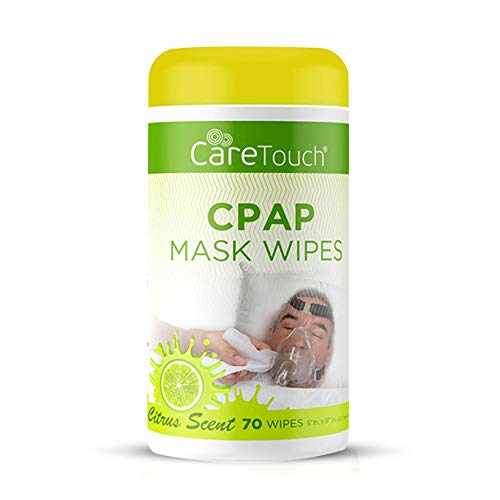 Care Touch CPAP Cleaning Mask Wipes - Citrus Scent, Lint Free - 70 Wipes