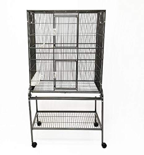 Exotic Nutrition Brisbane Cage (Black) - Large Spacious Durable Metal Cage - for Sugar Gliders, Chinchillas, Squirrels, Ferrets & Other Small Pets