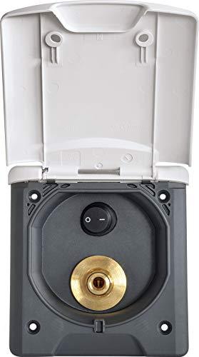 Fawo Wassersteckdose Wippschalter Klappdeckel Magnetverschluss Wasseraußenanschluss Camping weiß