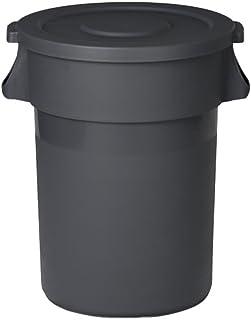 Bacs à Ordures Extérieurs En plein air en plastique grande boîte à ordures ronde extérieure poubelle en plastique en plein...