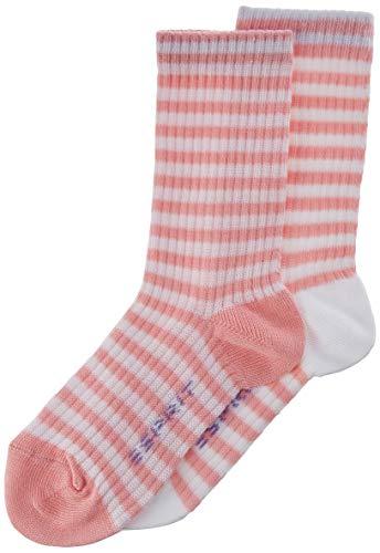 ESPRIT Unisex Kinder Socken Sporty Stripe 2-Pack, Baumwolle, 2er Pack, Rosa (Flamingo 8402), 31-34 (7-9 Jahre)