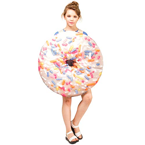 SEA HARE Disfraz de Donut Fancy Dress para Nios (One Size) (Blanco)
