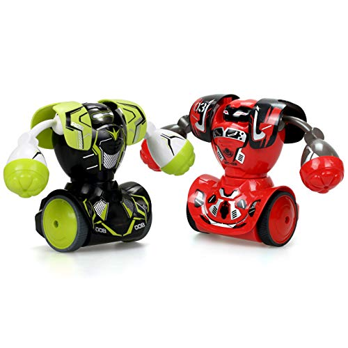 SilverLit Robo Kombat Twin Pack ( 1 Green and 1 Red Robot)