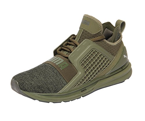 Puma Herren Ignite Limitless Knit Cross-Trainer, Olive Night-Puma Black, 45 EU