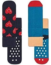Happy Socks Unisex Baby 2-Pack Smiley Heart Anti-Slip Socks 2-Pack Smiley Heart Anti-Slip Socks