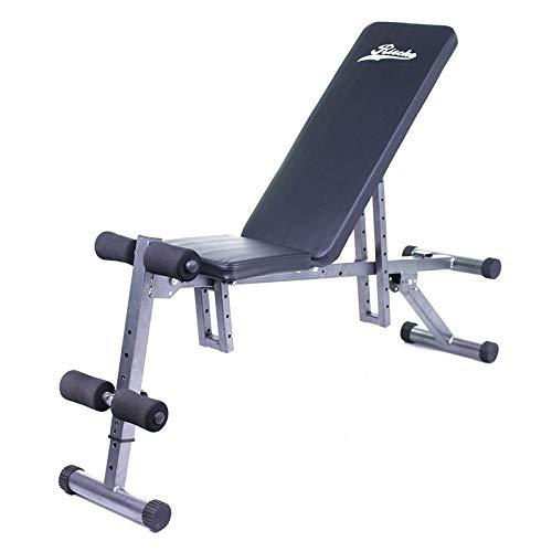 Grupo k-2 Wonduu Banco de Musculación Multifunción Plegable Acolchado | con Respaldo Abatible de 8 Posiciones | Banco de Pesas y Abdominales Ajustable