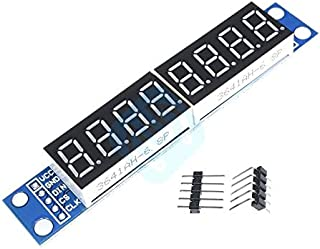 MAX7219 LED Dot Matrix 8 Digit Digital Tube Display Control Module 3.3V 5V Microcontroller Serial Driver 7-Segment for Arduino