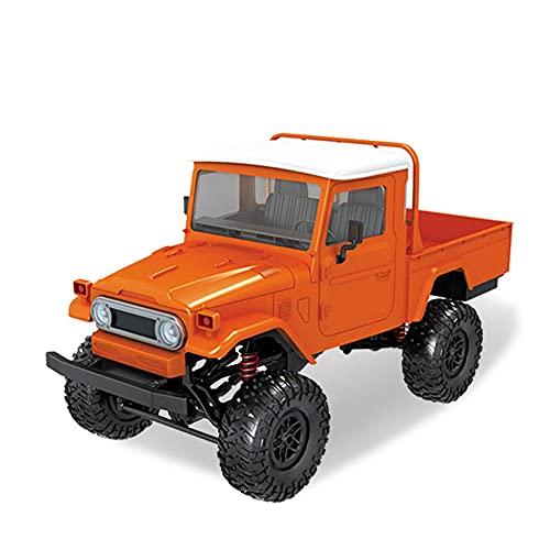 ZDYHBFE Coche de escalada todoterreno RC 2.4G Camión militar 4WD Coche de control remoto Material de plástico y metal Coche mecánico Naranja Azul Gris Multicolor Niño Coche de juguete Regalo para niño