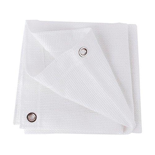 DUO Voiles d'ombrage Épaississement blanc de cryptage de goupille de tissu blanc de 80% d'ombrage pour le jardin de fleur pour plante et fleur (Size : 5×6M)