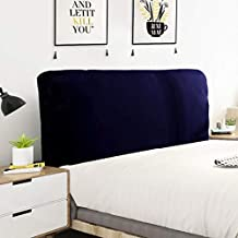 Bedside cover Solid Color Stretch Fabric All-inclusive Bed Head Cover, Bedroom Headboard Decorative Dust Cover Towel, for ...