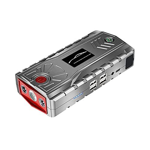 Feixunfan Arrancador de Coches 15000mAh 800A Emergencia Batería Booster Tipo-C Cargador Digital con DIRIGIÓ Linterna USB Puerto para Camionetas Todoterreno (Color : Gris, Size : 15000mAh)