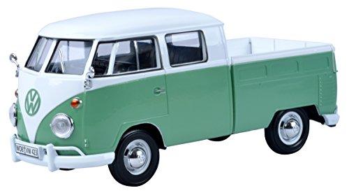 VW T1 DoKa, Weiss/grün Maßstab 1:24 - Metall / Kunststoff - Fertigmodell Motormax
