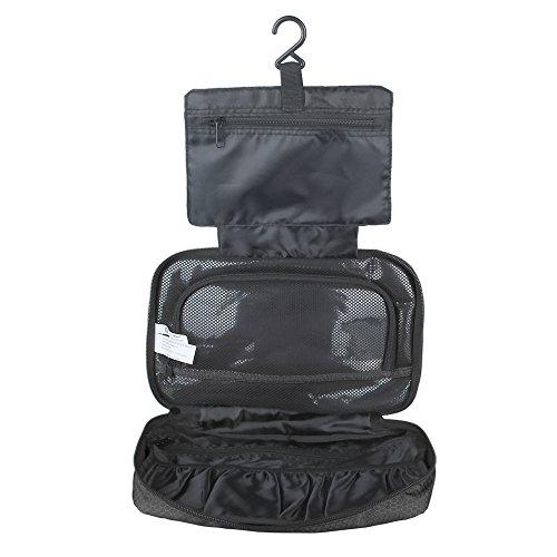 (バッグスマート)BAGSMART バスルームポーチ フック付き ブラック
