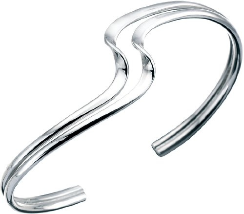 Elements Armreif für Damen, Doppelwelle, Sterlingsilber