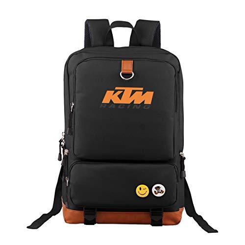 Ausan Davis KT-M Backpack Outdoor Hiking Daypacks Laptop Backpacks Vintage School Bag for Men Women Travel Rucksack Large Capacity College Bookbag