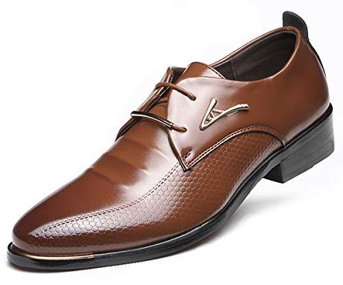 AARDIMI Herrenschuhe Herren Uniform Berufsschuhe Elegant Businessschuhe Lederschuhe Hochzeit Schuhe (38, Braun)