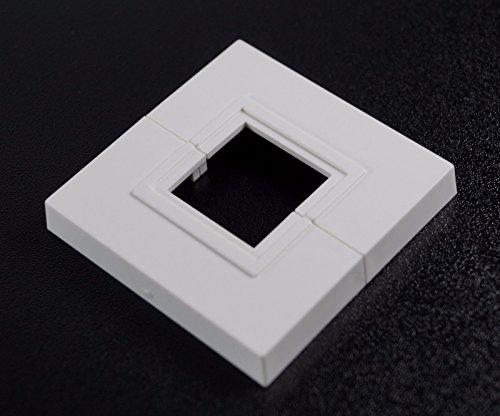 Einzel-Rosetten für Standkonsolen, Abdeckung für Standkonsolen, 2 Stück; ABS (Lochung 25x25mm)