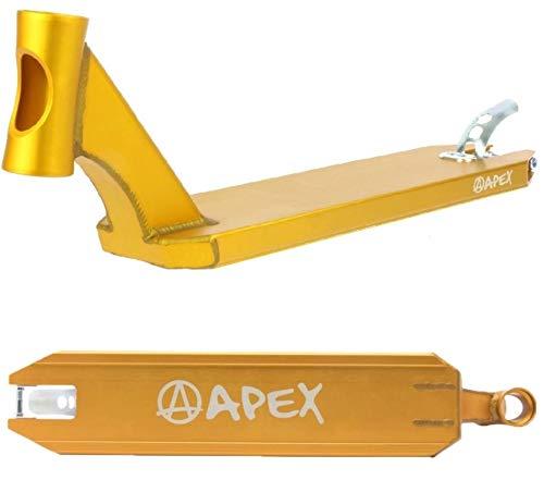 Apex Scooters - Patinete de acrobacias por tabla + pegatina Fantic26 (51 cm), color dorado