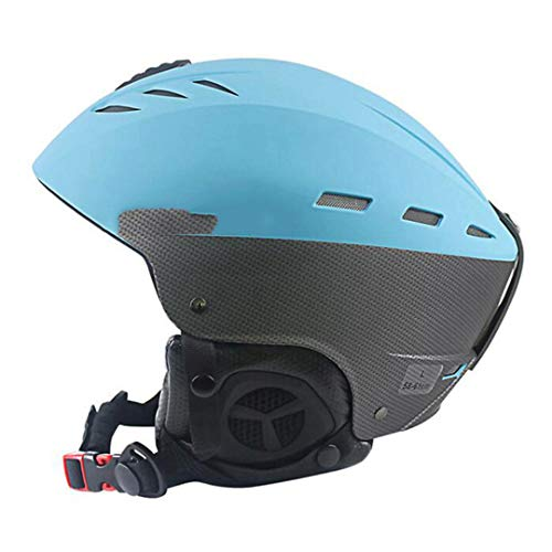 O-Mirechros Certification Casque de Ski d'hiver Sports de Plein air ABS + EPS Ski Snowboard Neige Planche à roulettes Casque Blue M (55-57cm)