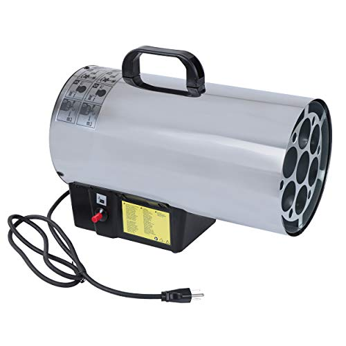 BISupply Portable Propane Heater 60,000 BTU - Small Propane Heater Warms 1,500 Square Feet - Propane...