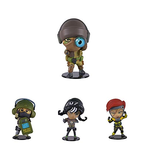 Ubisoft Six Collection - Glaz Figur + Blitz Figur + Dokkaebi Figur + Finka Figur (Rainbow Six Siege, Serie 4)