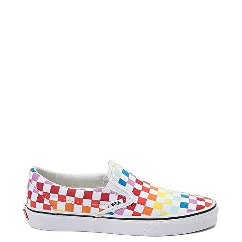Vans Unisex Authentic Skate Shoe Sneaker (9 Women / 7.5 Men M US, (Checkerboard) Rainbow/True White 7267)