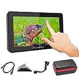 Feelworld F6 Plus 5インチキャリングケース付き カメラビデオモニター、撮影モニター、液晶 モニター,3D LUTのサポートIPS FHD 1920x1080 4K HDMI 出力/入力 信号 一眼レフカメラ用 -日本語設定可能
