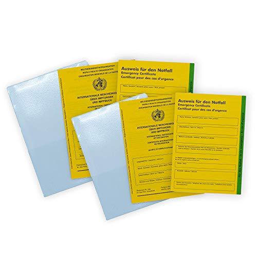 SECO Impfpass - 6er Set 2X Impfausweis 2X Notfallausweis, Notfallpass...