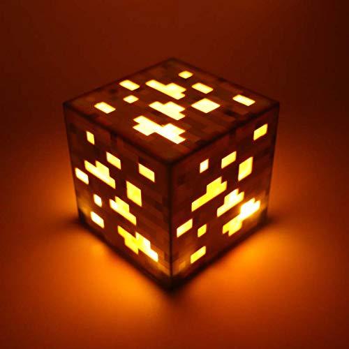 Juguetes Para Niños Light Juego Caliente Light Up Redstone Ore Square Toy Night Light Led Action Toy Figure Sleep Light Diamond Ore Kids Regalos Juguetes