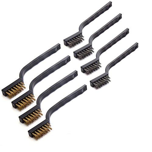 Umsole - Set de cepillos de alambre de acero inoxidable y latón,...