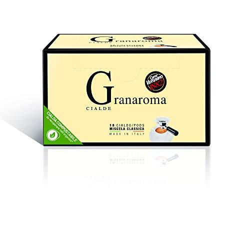 Caffè Vergnano 1882 Cialde Caffè Granaroma, 6 confezioni da 18 cialde, filtro in carta (totale 108)