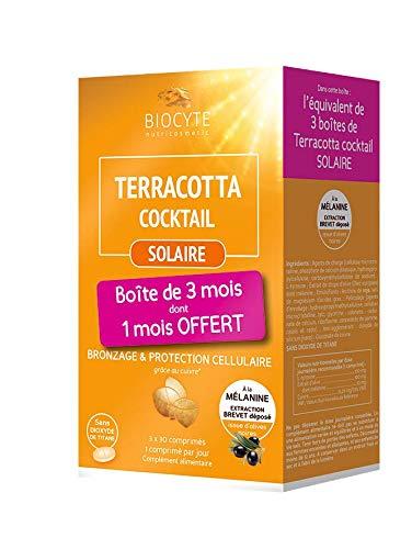 Biocyte terracotta cocktail Solaire–Juego de 3cajas de 30comprimidos de bronceador