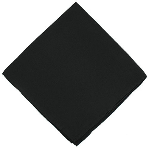 Un mouchoir en soie noire unie Michelsons