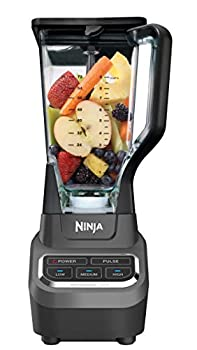 Ninja BL610 Professional 72 Oz Countertop Blender with 1000-Watt Base and Total Crushing Technology for Smoothies Ice and Frozen Fruit Black 9.5 in L x 7.5 in W x 17 in H